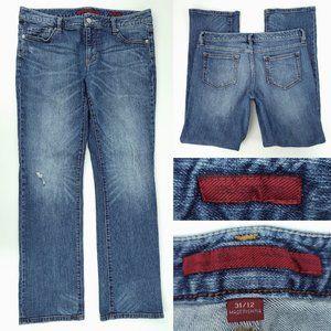 Banana Republic Straight Distressed Jeans 12 34x31
